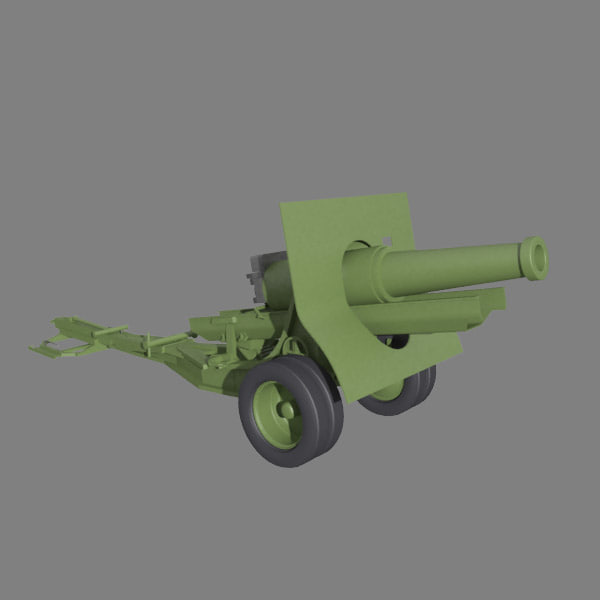 3ds max howizer cannon