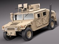 2010 suv military vechicle 3d model