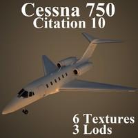 cessna 750 3d max