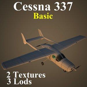 3ds max cessna 337 basic