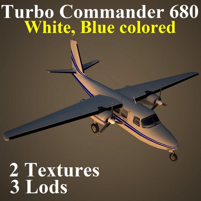 3d turbo commander dbl aircraft