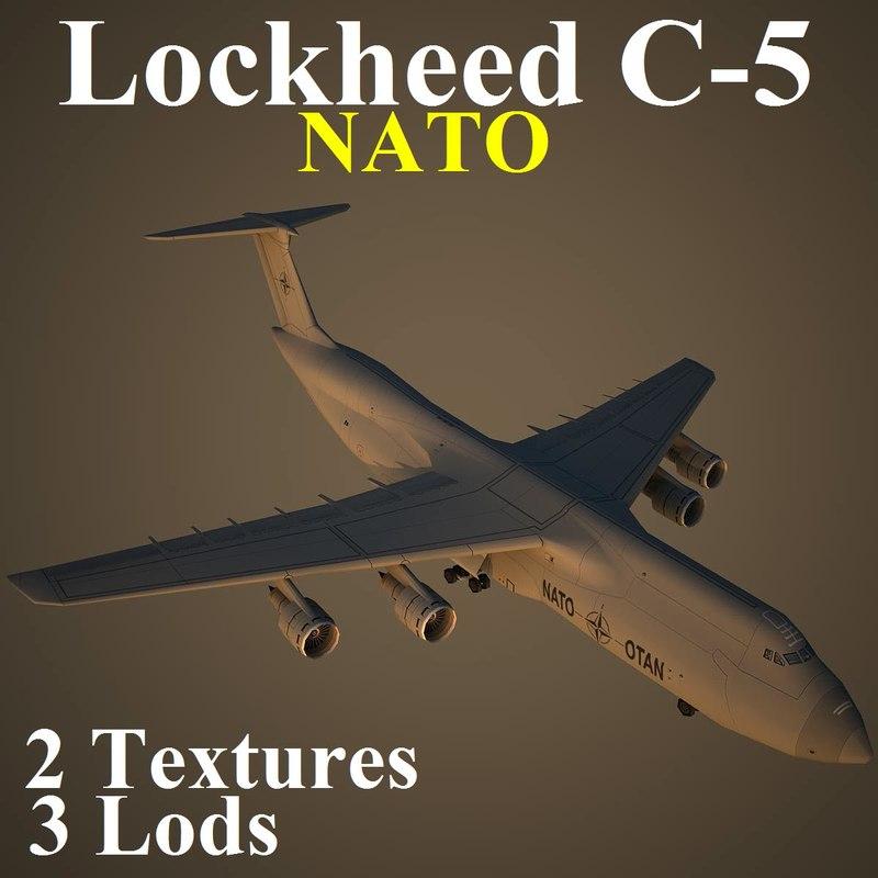 3d lockheed c-5 nat model