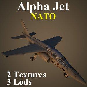 alpha jet nat aircraft 3d model
