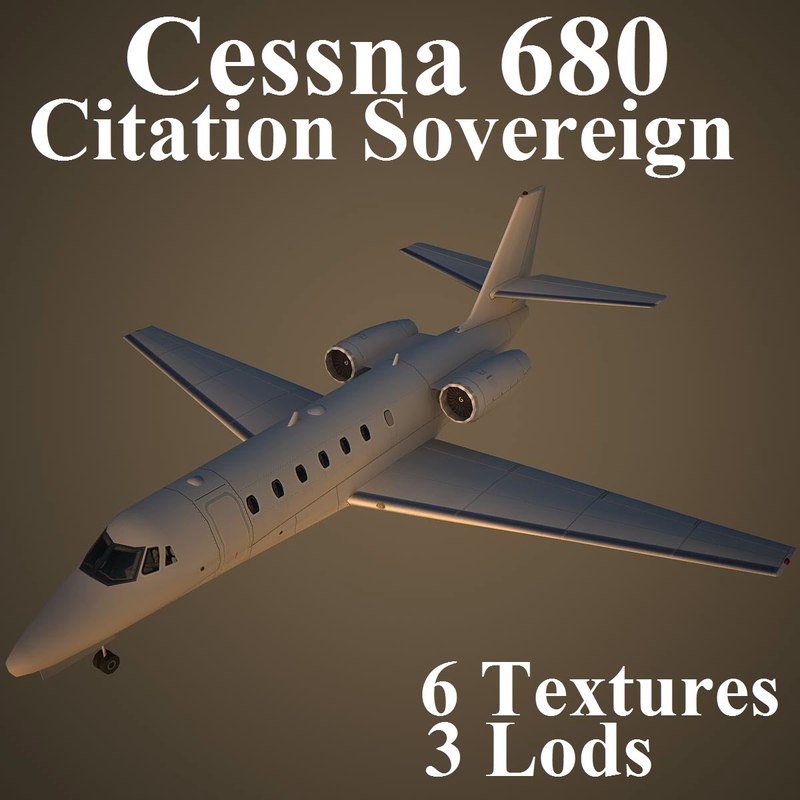 3dsmax cessna 680