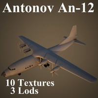 antonov an-12 air 3d max