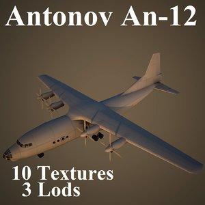 antonov an-12 air 3d max