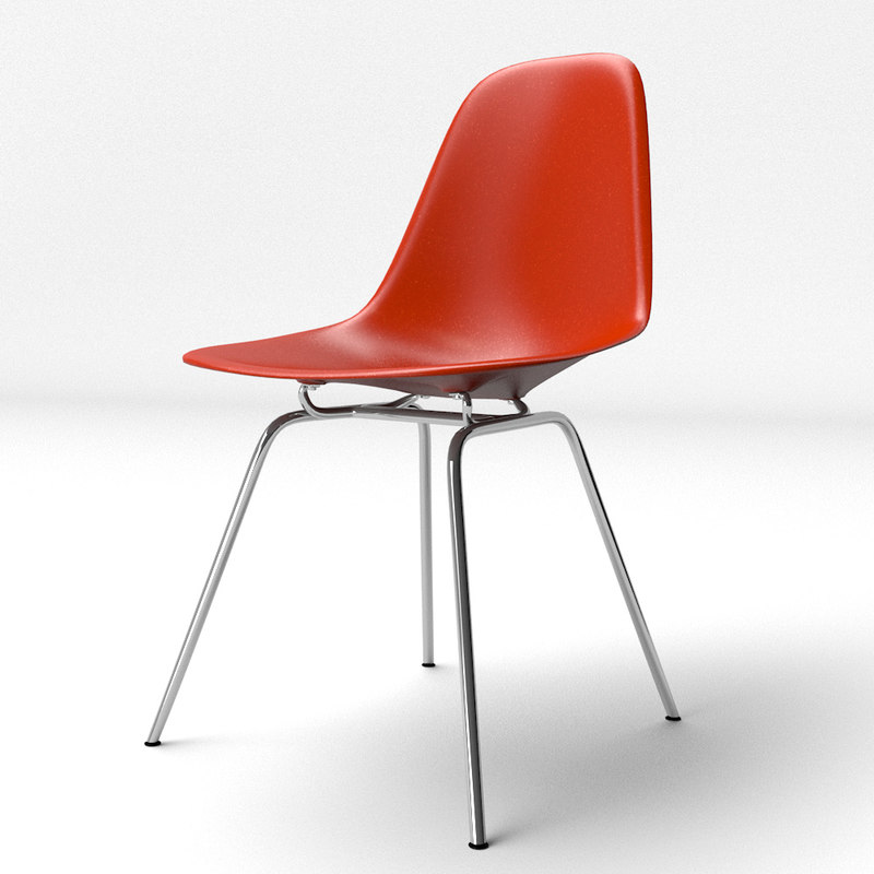 eames molded plastic chair eiffel 3d model of eames molded plastic chair