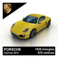3d 2014 porsche cayman sports model