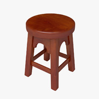 wooden stool wood 3d max