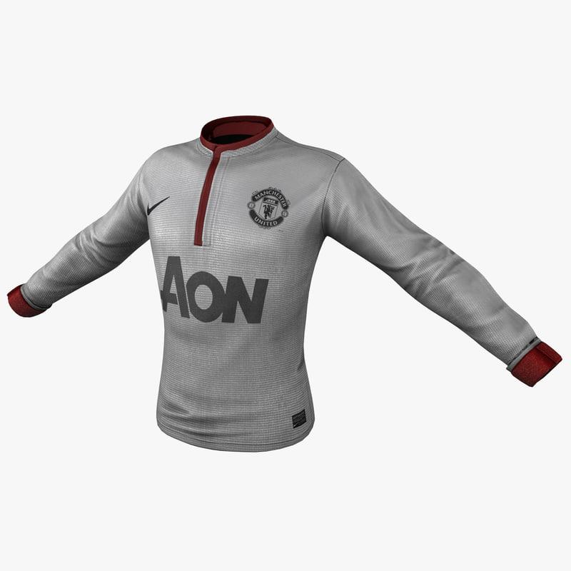 3d model soccer shirt 2