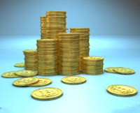 stack bitcoins c4d