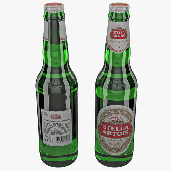 lightwave stella artois beer bottle