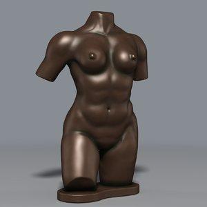 3d torso sculpture statue model