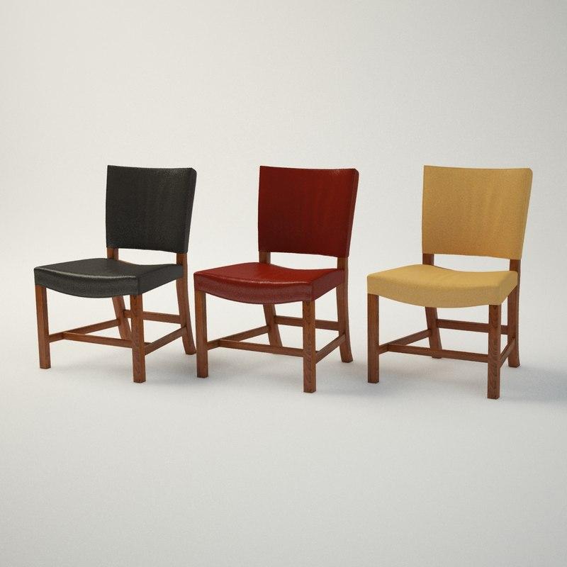 3d model kaare klint red chair furniture