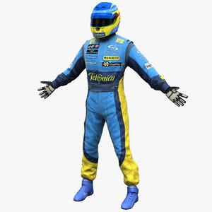 3d racing driver renault