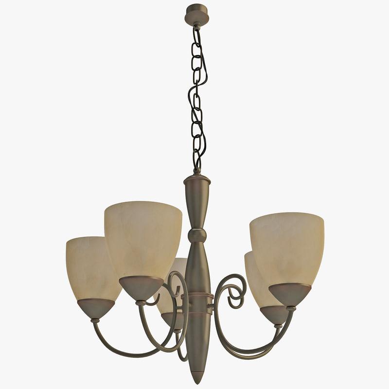 classic chandelier berkshire 3d 3ds