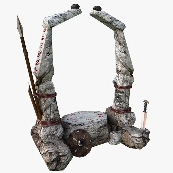3d model altar games