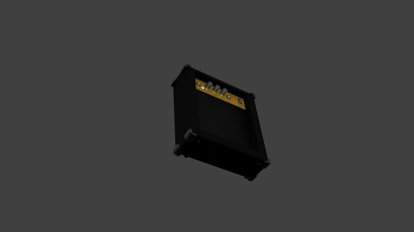 free guitar amplifier 3d model