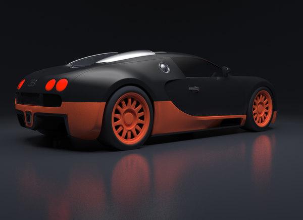 bugatti veyron rig obj