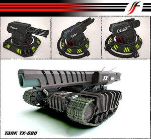 3d tank turret