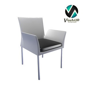 3d model modern armchair ensemble