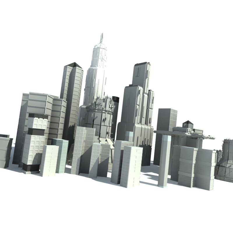3d model of city buildings