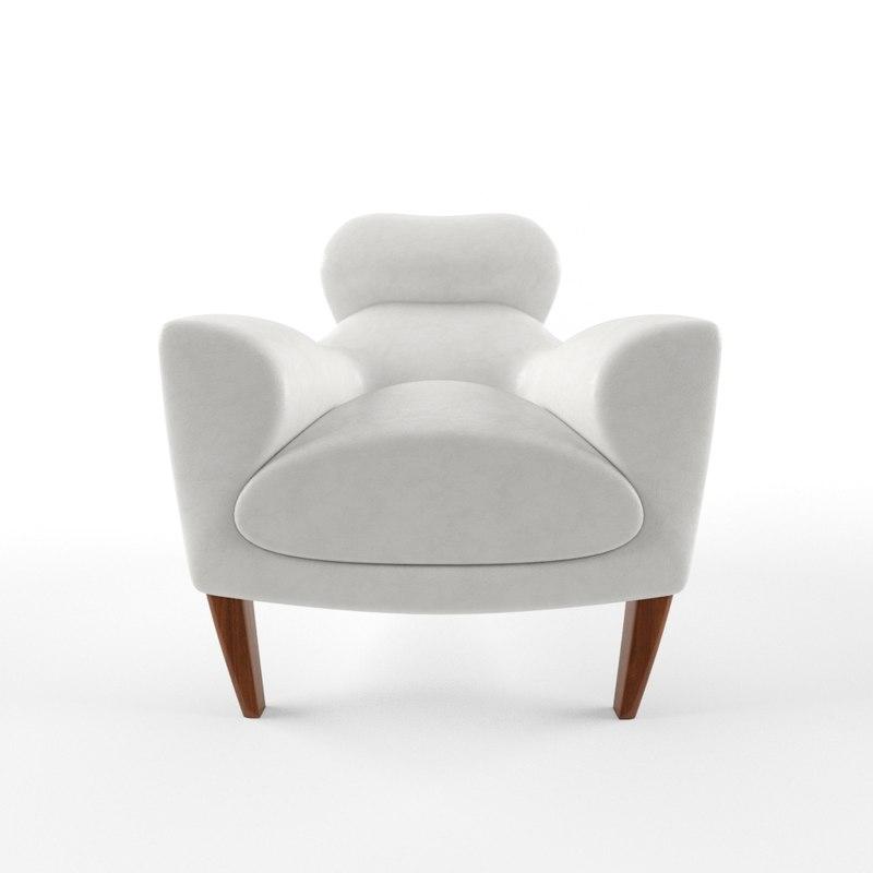3d david linley aston armchair model