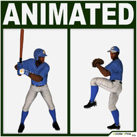 Black Baseball Players CG (BATTER/PITCHER)