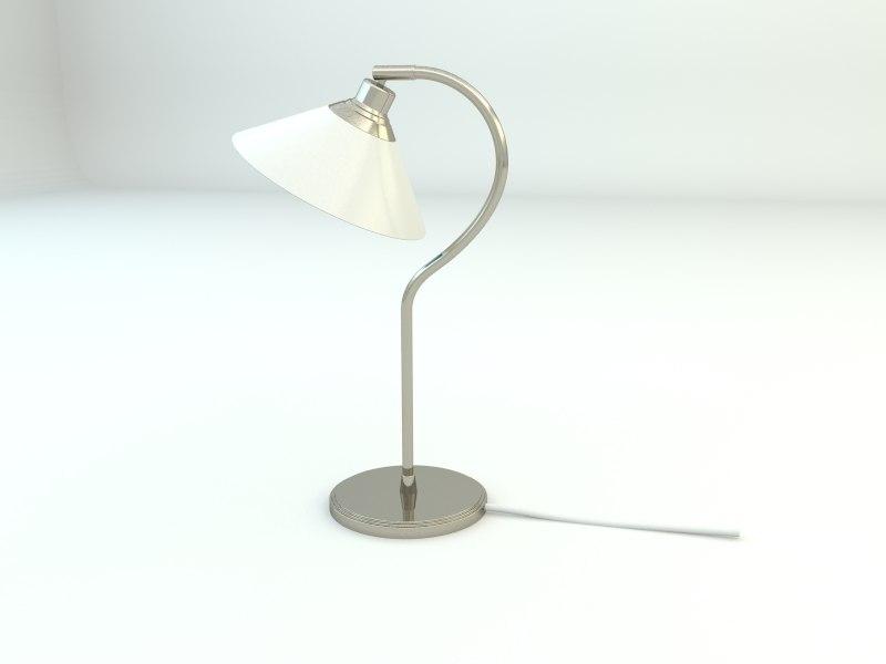 3d model ikea kroby work lamp