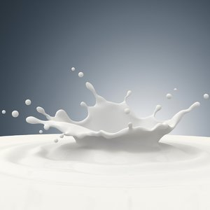 milk splash 3d obj