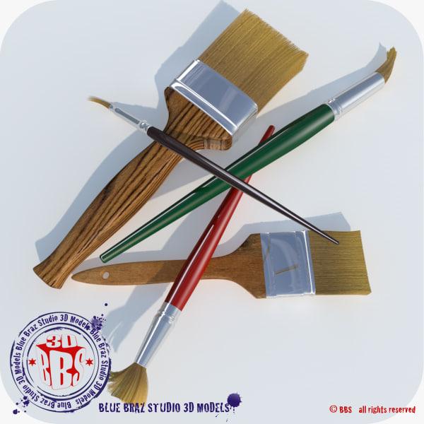 paint brush 3d c4d