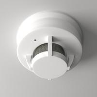 3d model smoke detector