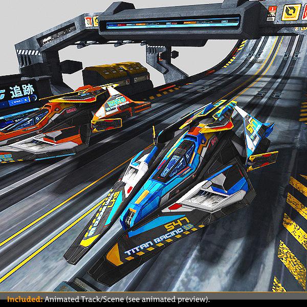 scifi race-kit 3d max