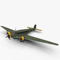 3d model junkers ju-52 aircraft