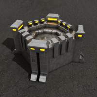 Fortification sci-fi building