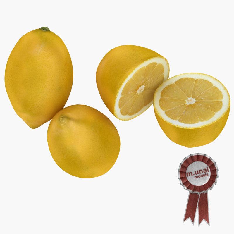3d realistic lemon model