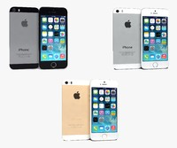 3d apple iphone 5s colors