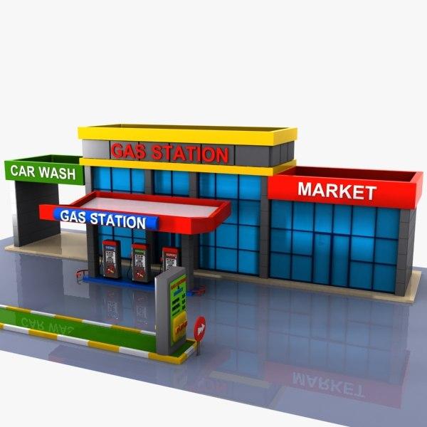 car gas 3d model