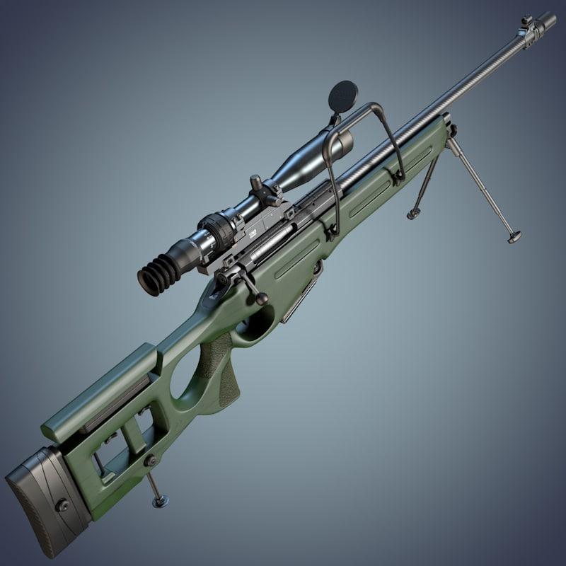 sv-98 sniper rifle 1p69 c4d