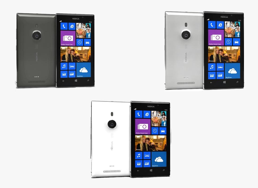3d nokia lumia 925 colors model