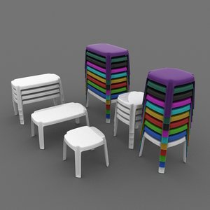 plastic table 3d max