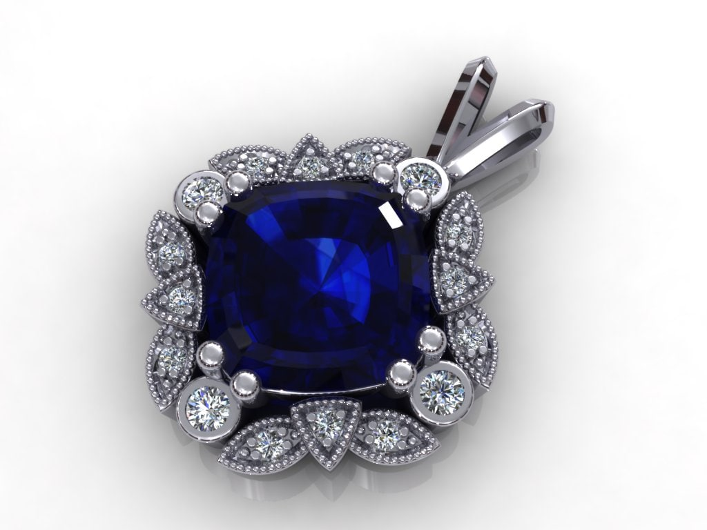 3d diamond pendant model
