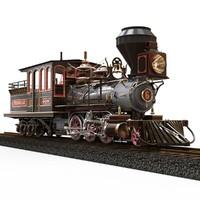 locomotive tenmile 1879 mason 3d obj