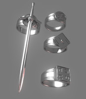 3d max set viking rings accessory