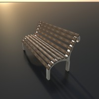 3ds max park bench
