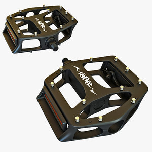 3d model bike pedals