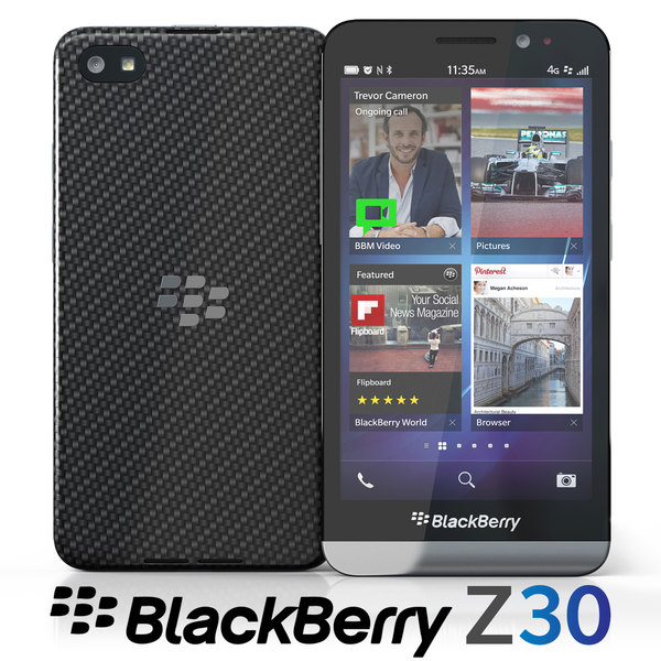 blackberry z30 3d model