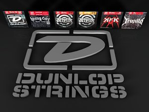 3d model jim dunlop guitar strings