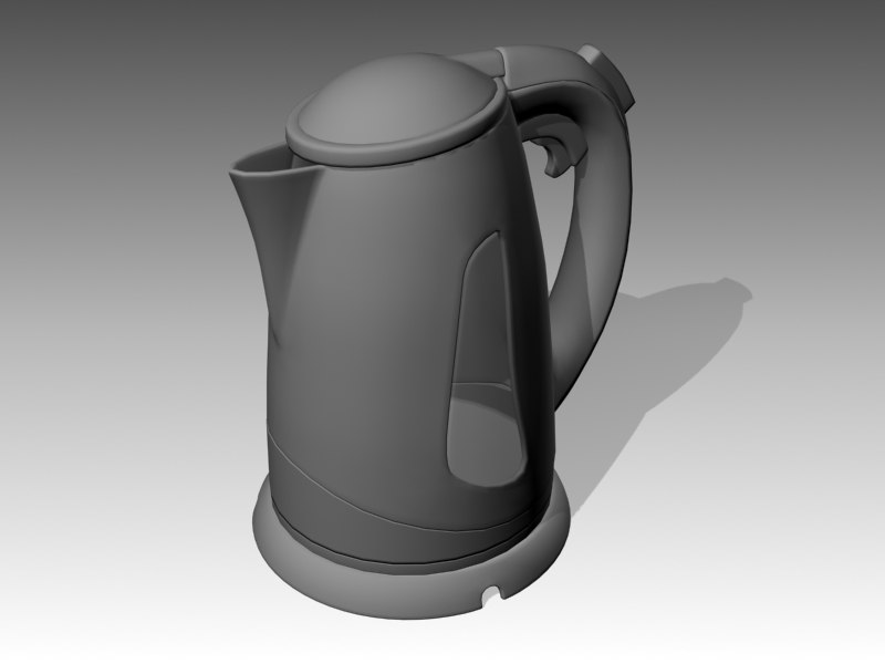 3d model electric tea-pot
