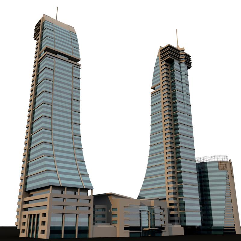 bahrain financial harbour 3d model